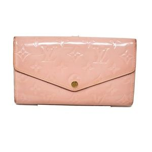 100% Louis Vuitton Vernis Sarah Bifold Long Wallet